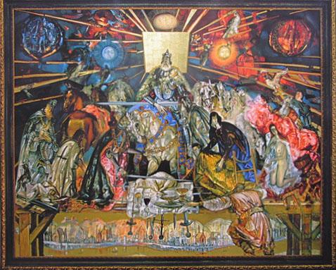 Atsisveiknimas su Kęstučiu. Dail. Giedrius Kazimierėnas (Drobė, aliejus. 250 x 300). In: Giedrius Kazimierėnas. Lietuvos istorija tapyboje. Vilnius, 2009).